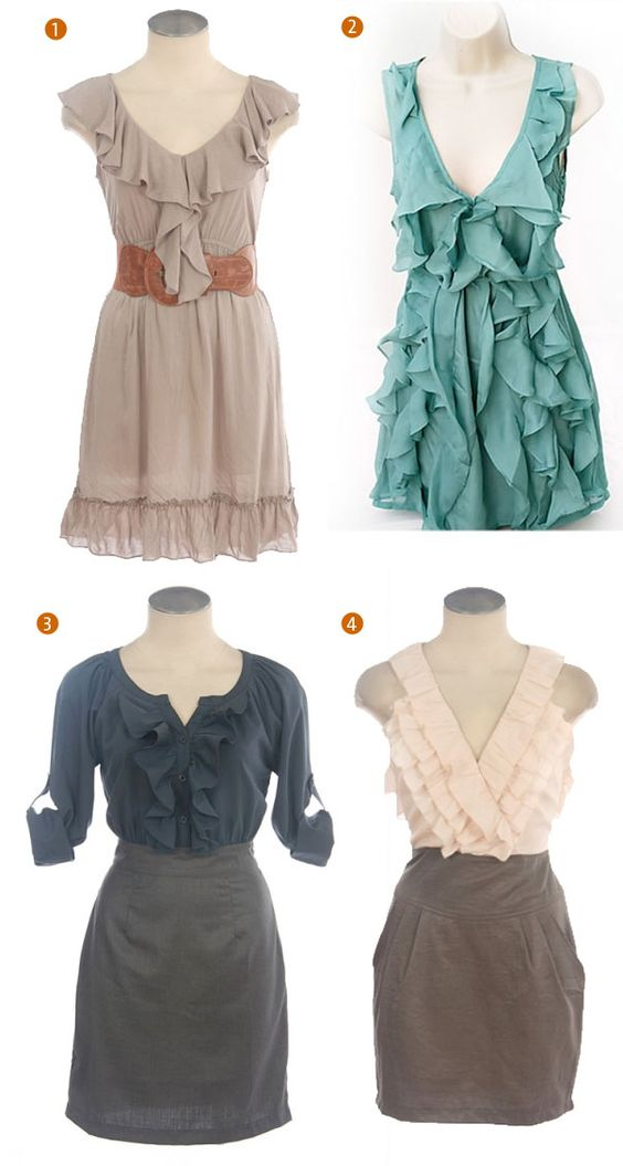cute ruffle dresses