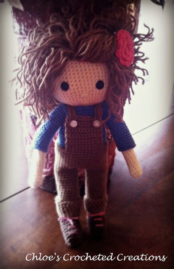 Crocheted Doll The Madison Doll Christmas Gift by ChloesCrocheted
