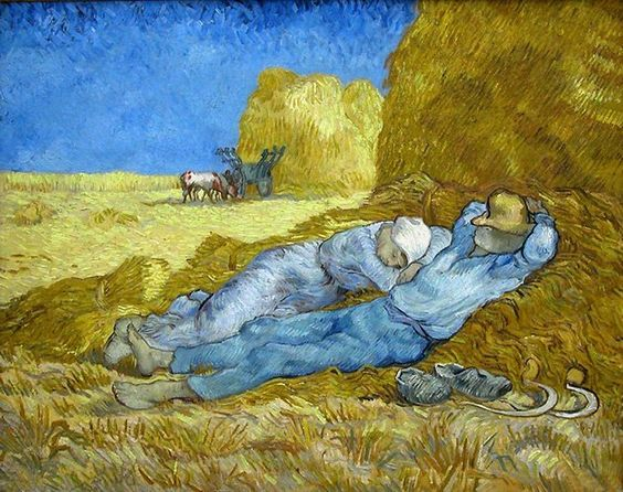 Pinturas de Van Gogh la-siesta-van-gogh