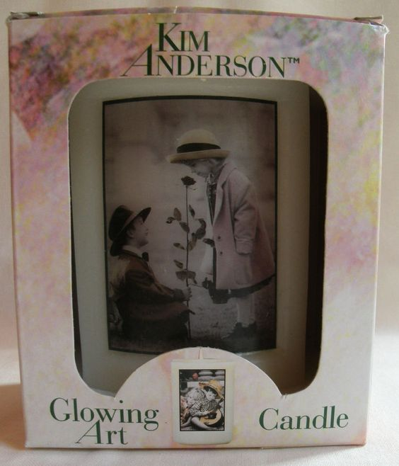 """Kim Anderson """"Be my One and Only"""" Glowing Art Candle 20 Oz NEW in Box"""