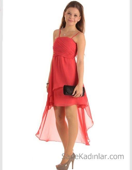 14 Yas Abiye Elbise Turuncu Kisa Ip Askili Asimetrik Etekli Mini Elbiseler Elbise Moda Stilleri