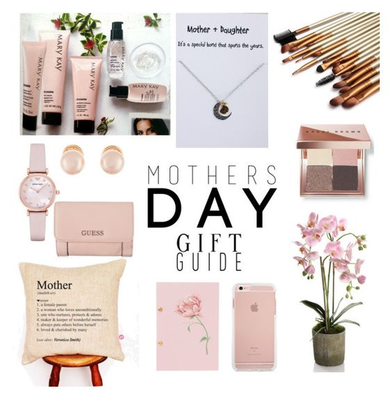 """""""Mothers Day Gift Guide - pink"""" by makesmefashionable on Polyvore featuring Emporio Armani, Kenneth Jay Lane, Bobbi Brown Cosmetics, GUESS and mothersdaygiftguide"""