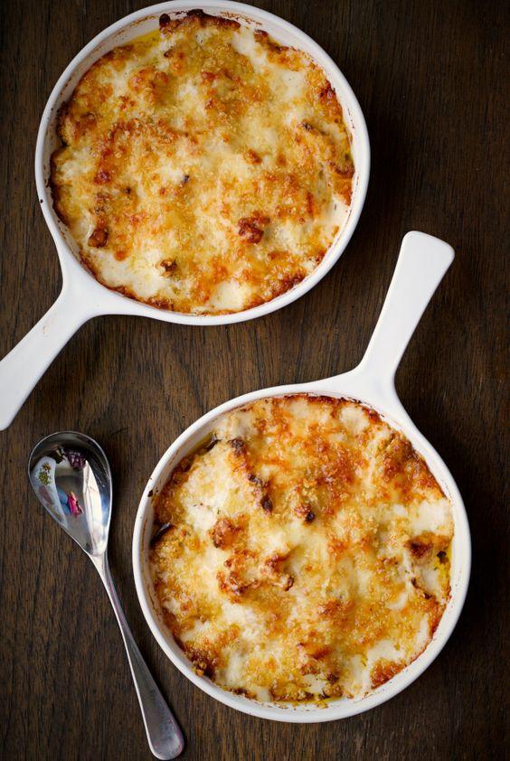 Roasted Cauliflower and Gruyère Gratin