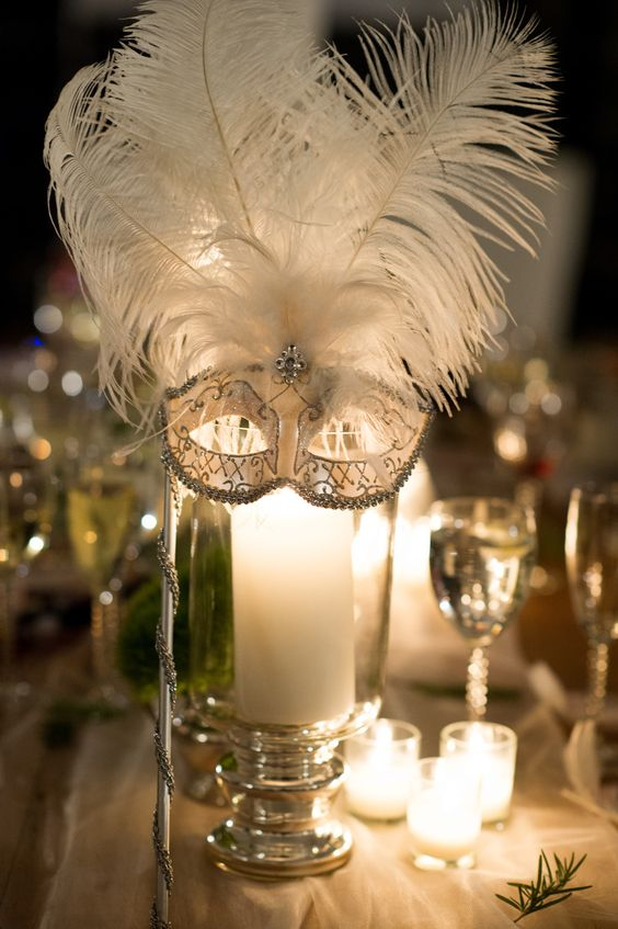 masks, masquerade, ball, table centre, mask, candles, party.