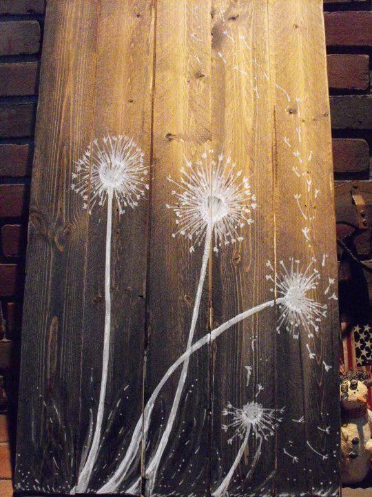 Dandelions in the Wind. $35.00, via Etsy.