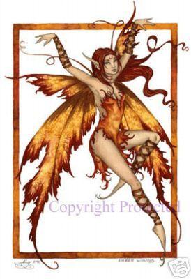 amy brown fairies   Black Cat Fairy Amy Brown 8.5X11 Fairies Art Print