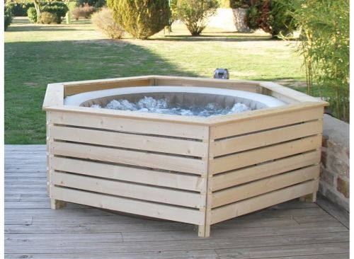 Habillage En Bois Spa Gonflable Intex Aquazendo Spa Gonflable