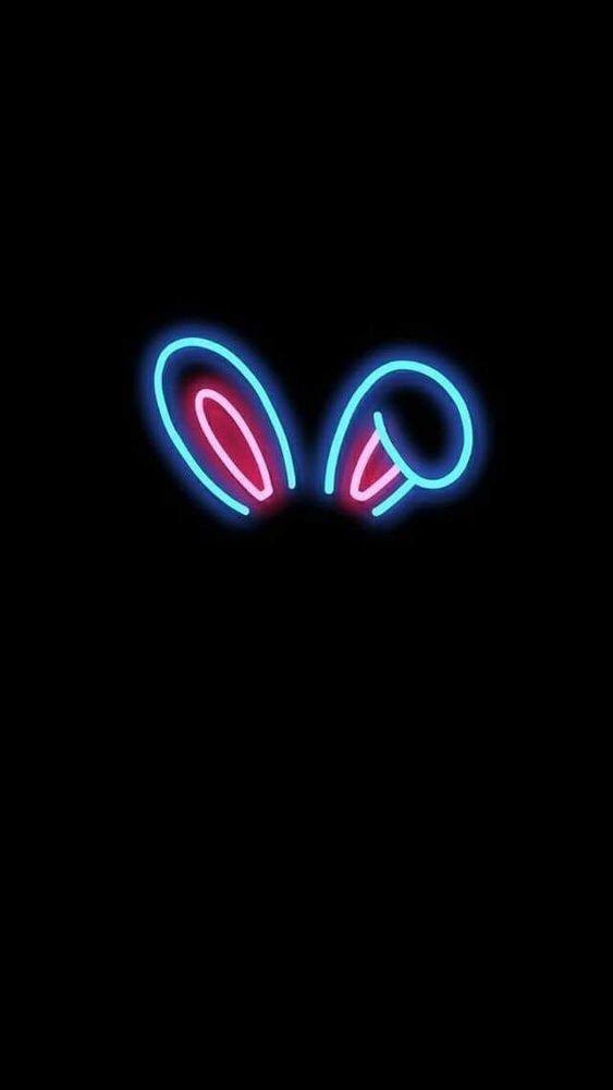 Neon Bunny In 2020 Wallpaper Iphone Neon Neon Wallpaper Neon Light Wallpaper