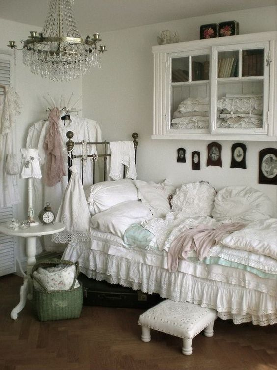 Small White Chic Bedroom.                                                                                                                                                     More