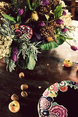 Flowers and print