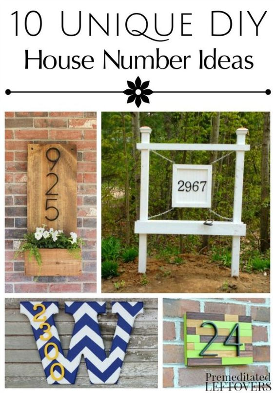 Add personality to the outside of your home with these 10 Unique DIY House  Number Tutorials. Frugal Yard Ideas   SNSM155 com