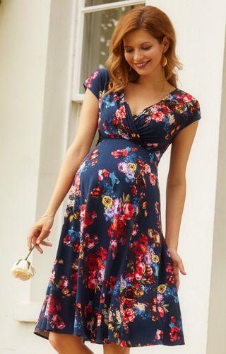 Alessandra Maternity Dress Short Midnight Garden by Tiffany Rose