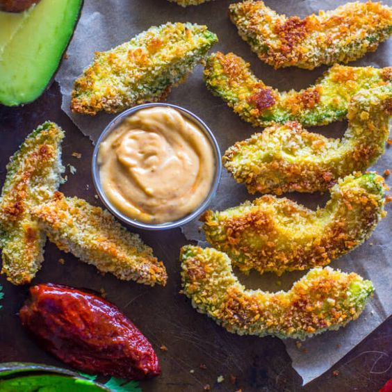 Crispy Baked Avocado Fries & Chipotle Dipping Sauce Recipe Appetizers ...