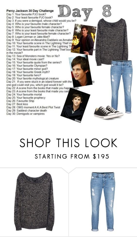 """Day 8"" by watermelon1004 ❤ liked on Polyvore featuring rag & bone, Koral, Converse, percyjackson, loganlerman and rickriordan"