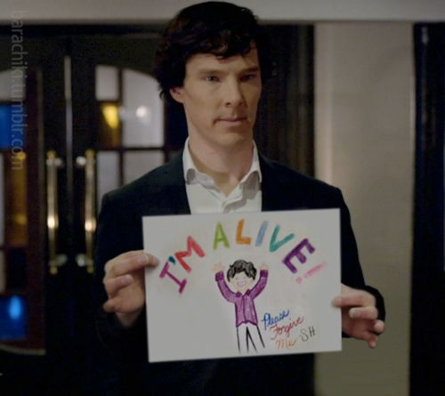 Sherlock was going to try this technique before the whole french waiter routine.: