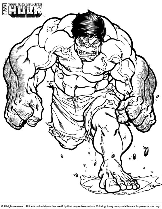 Hulk Cartoon Drawing Picture