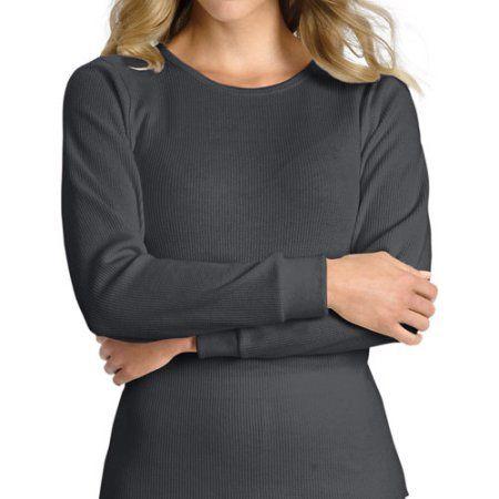 Plus Size Hanes Women's Plus X-Temp Thermal Underwear Crew Tee ...
