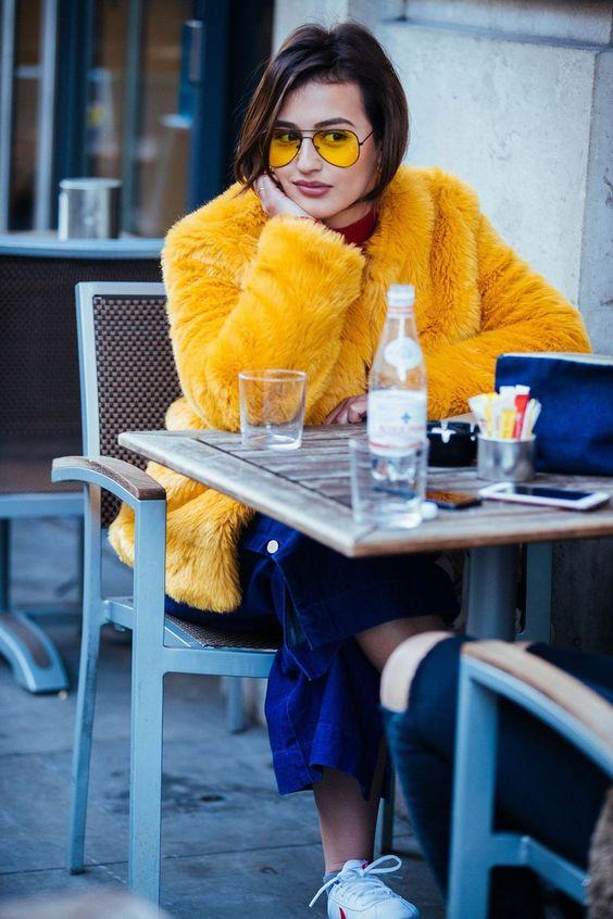 Abrigo de pelo de color: Â¡no hay inviernos aburridos!