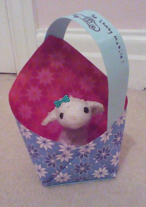 Cute ( totally made up ) origami lamb bag.