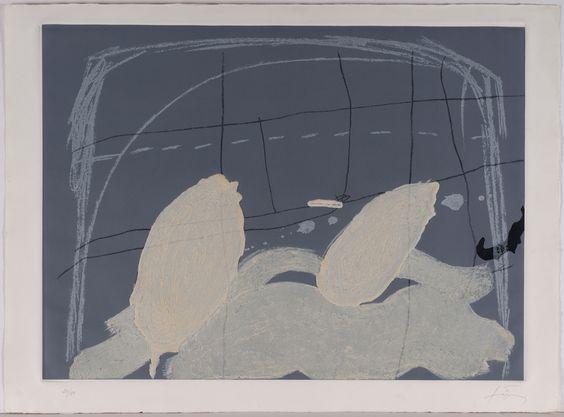 Original Art at Zalarte.com -Aparicions V by Antoni Tàpies | 56' h x 76' w