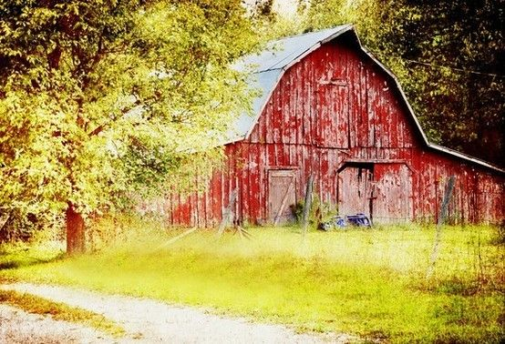Little red barns need love. By Michelle Summers @Etsy! photography-inspiration