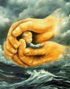God holds us through every storm in life! when the winds blow and the waves crash he calms it all with his love:):
