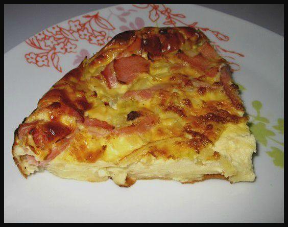 Quiche sans pâte oignon bacon weight watchers - A la table de Bérangère