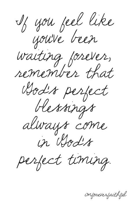 in God's perfect timing