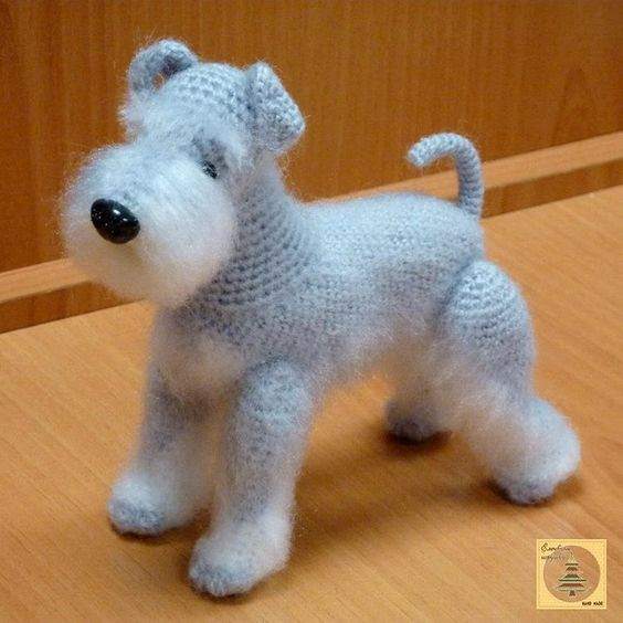 AmiDogs Miniature Schnauzer amigurumi crochet pattern : PlanetJune ... | 564x564