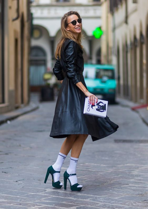 STYLECASTER | 29 Genuinely Chic Ways to Wear Socks with Stilettos