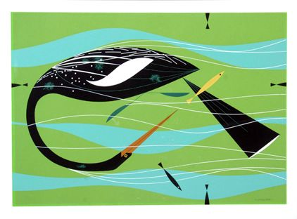 Anhigna Serigraph - The Charley Harper Gallery - Outstanding Inventory!