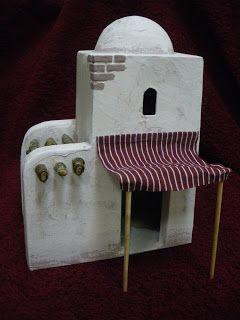 He fabricado varios modelos diferentes de casitas para - Casitas para pesebre de carton ...