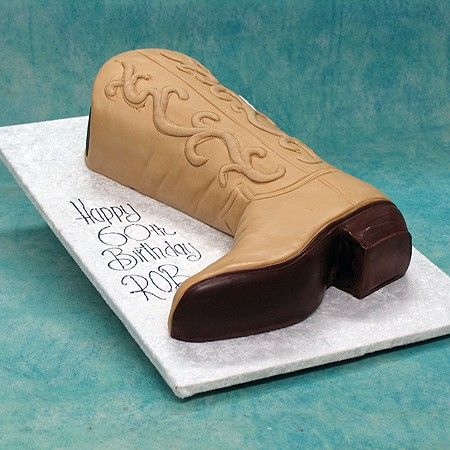 cowboy boot cake - Great idea for Sally!!!