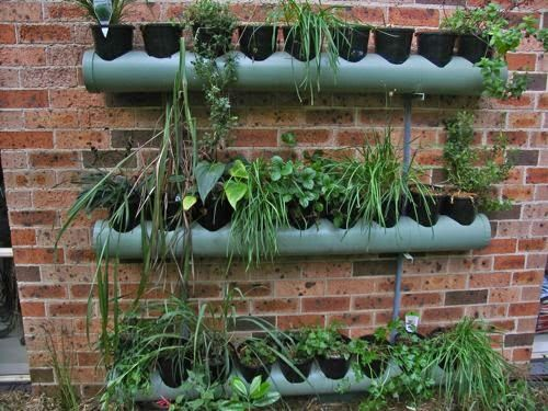 Jardinera tubo pvc contenedora de macetas maceteros de for Banano de jardin