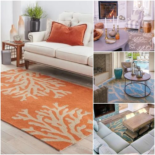 Coastal Coral Reef Branch Rugs Decor Ideas For Indoors Outdoors Living Room Decor Gray Coastal Decorating Living Room Living Room