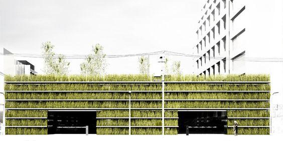 shinjuku gardens, cheungvogl, tokyo, parking garage, green roof, living green wall, green design, urban park