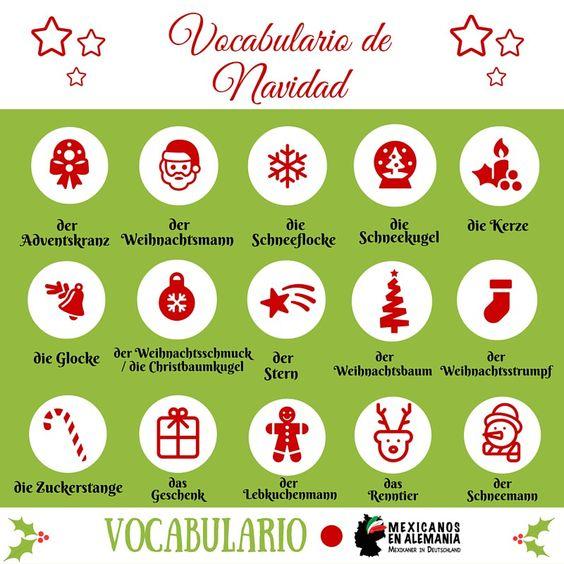 vocabulario de #navidad #alemán