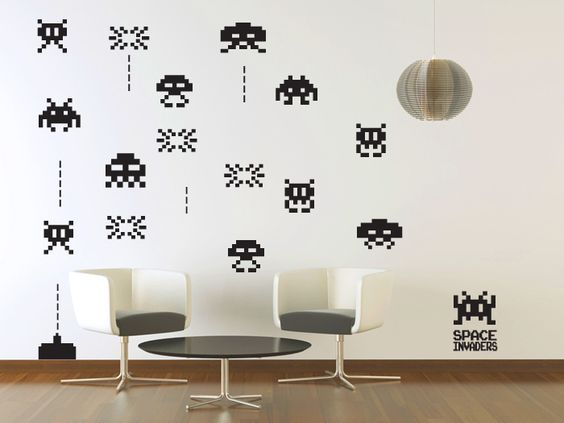 Space Invader Stickers Invaders Pinterest Space Invaders Deco Wall And Decals