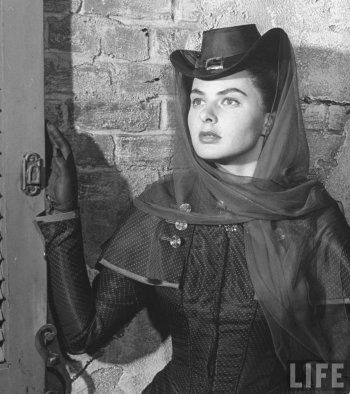 Portrait of Ingrid Bergman  for Saratoga Trunk directed by Sam Wood, 1945. Photo by John Florea