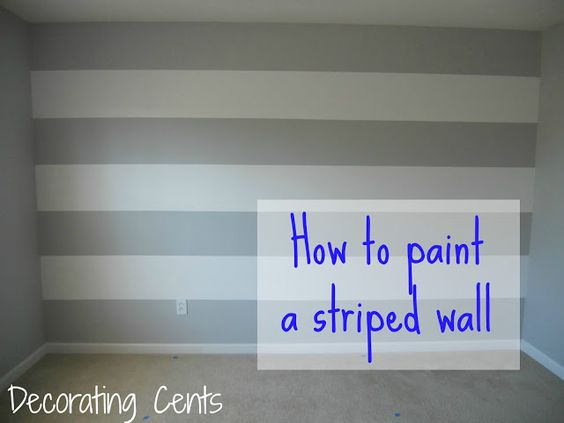 Painting stripes on a wall. Want to do the semi gloss and gloss in entry with this method.