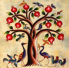 Pomegranate tree. armenian art