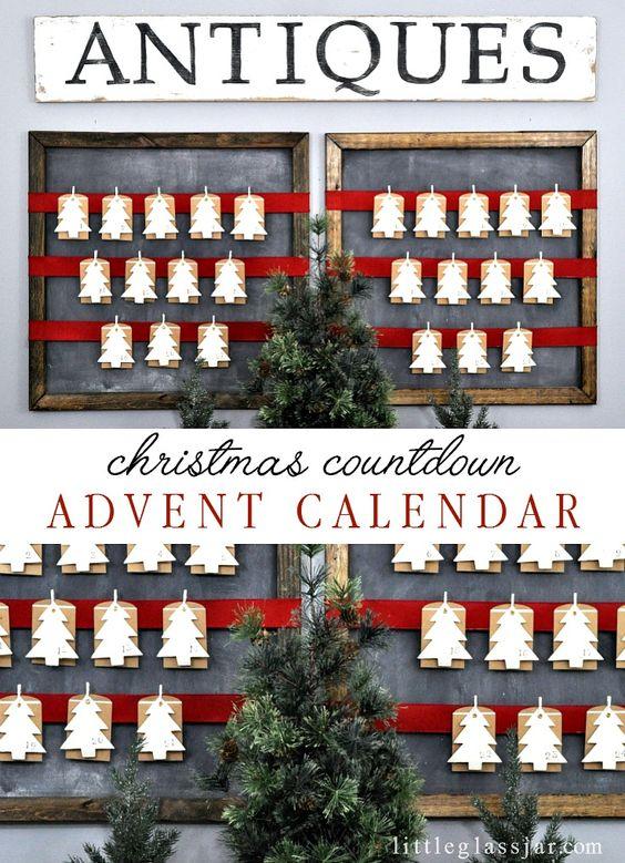 Advent calendar diy advent calendar advent and advent for Homemade christmas advent calendar ideas