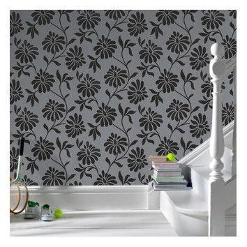 A black floral wallpaper that's got a light touch.