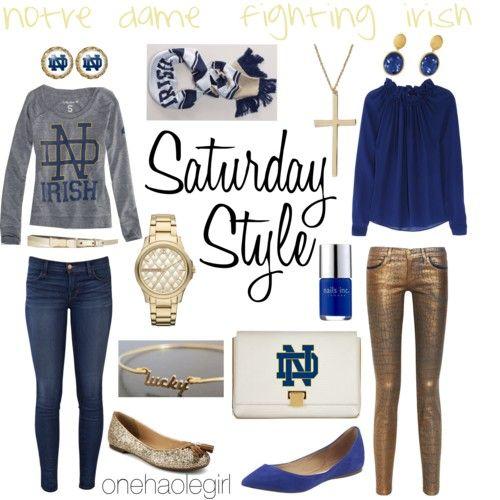 Notre Dame Fighting Irish. Saturday Style on the blog.    onehaolegirl.blogspot.com