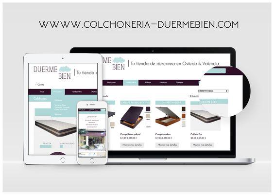 Diseño web template colchones sleep
