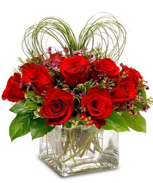 Love Squared Valentines Flowers Valentine S Day Flower Arrangements Valentine Flower Arrangements
