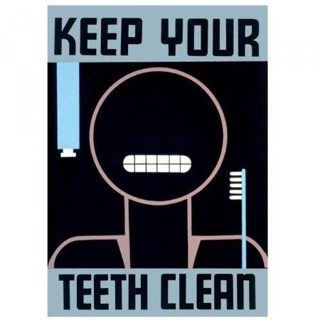 Affiche vintage Keep your teeth clean