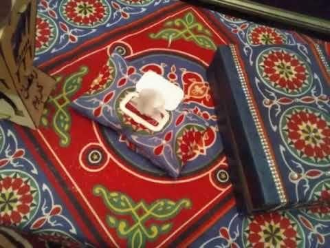 طريقه عمل كفر علبه مناديل بدون خياطه خالص طريقه عمل زينه رمضان من قماش الخيامية Youtube Ramadan Crafts Crafts Ramadan