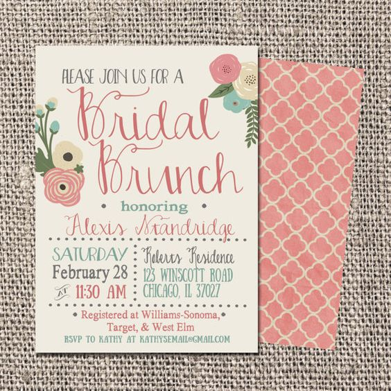 Hey i found this really awesome etsy listing at https for Wedding brunch invitations