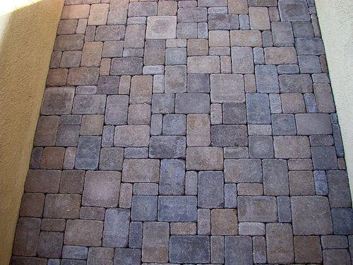 random pattern pavers outdoor ideas pinterest